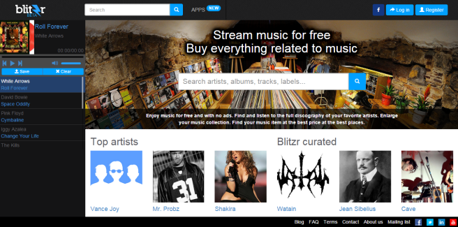 blitzr musica streaming gratis sin publicidad alternativa spotify